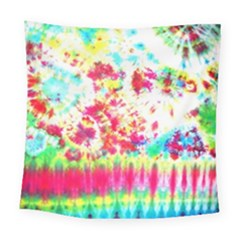 Pattern Decorated Schoolbus Tie Dye Square Tapestry (large)