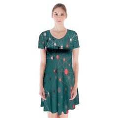 Pattern Seekers The Good The Bad And The Ugly Short Sleeve V-neck Flare Dress