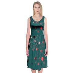 Pattern Seekers The Good The Bad And The Ugly Midi Sleeveless Dress