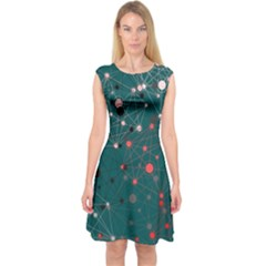 Pattern Seekers The Good The Bad And The Ugly Capsleeve Midi Dress