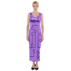 Peripherals Fitted Maxi Dress