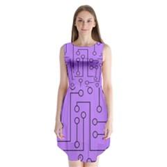 Peripherals Sleeveless Chiffon Dress