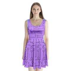 Peripherals Split Back Mini Dress