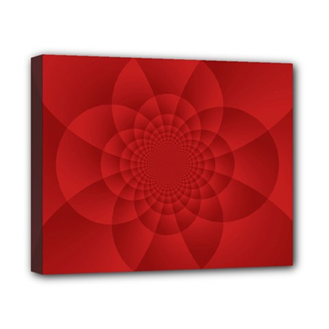 Psychedelic Art Red  Hi Tech Canvas 10  X 8