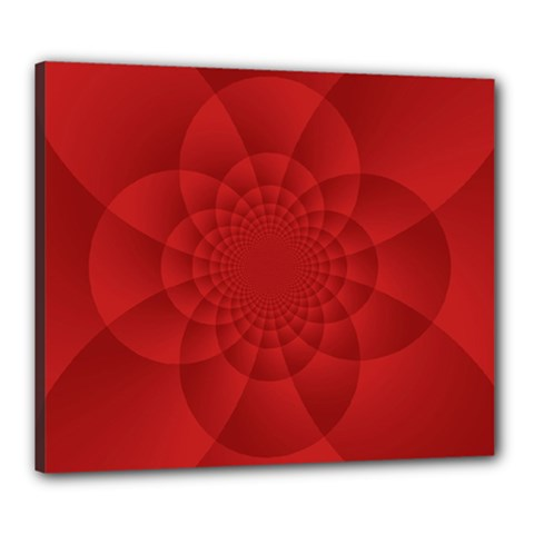 Psychedelic Art Red  Hi Tech Canvas 24  X 20