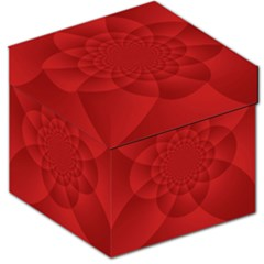 Psychedelic Art Red  Hi Tech Storage Stool 12