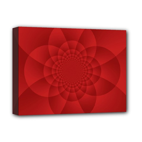 Psychedelic Art Red  Hi Tech Deluxe Canvas 16  X 12