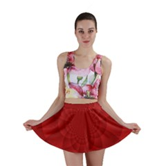 Psychedelic Art Red  Hi Tech Mini Skirt