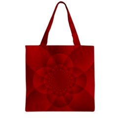 Psychedelic Art Red  Hi Tech Grocery Tote Bag