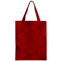 Psychedelic Art Red  Hi Tech Classic Tote Bag
