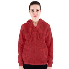 Psychedelic Art Red  Hi Tech Women s Zipper Hoodie