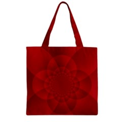 Psychedelic Art Red  Hi Tech Zipper Grocery Tote Bag