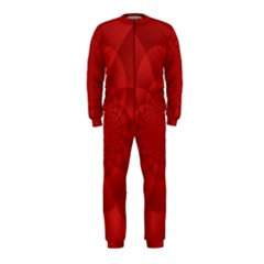 Psychedelic Art Red  Hi Tech Onepiece Jumpsuit (kids)