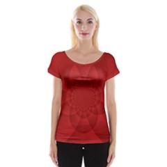 Psychedelic Art Red  Hi Tech Women s Cap Sleeve Top