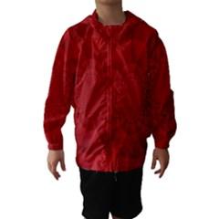 Psychedelic Art Red  Hi Tech Hooded Wind Breaker (kids)