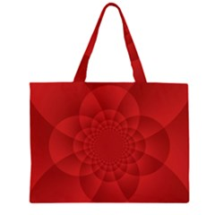 Psychedelic Art Red  Hi Tech Large Tote Bag