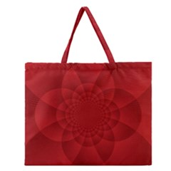 Psychedelic Art Red  Hi Tech Zipper Large Tote Bag