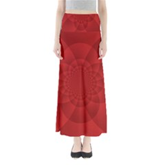 Psychedelic Art Red  Hi Tech Maxi Skirts