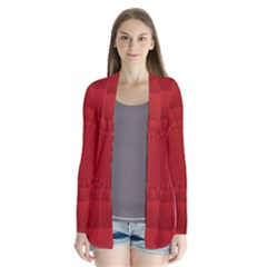 Psychedelic Art Red  Hi Tech Cardigans