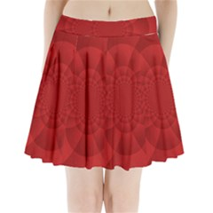 Psychedelic Art Red  Hi Tech Pleated Mini Skirt