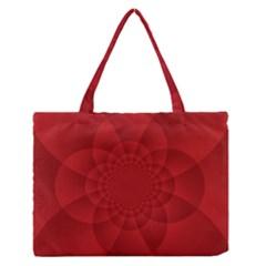 Psychedelic Art Red  Hi Tech Medium Zipper Tote Bag