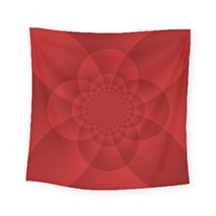 Psychedelic Art Red  Hi Tech Square Tapestry (small)