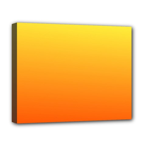 Rainbow Yellow Orange Background Deluxe Canvas 20  X 16