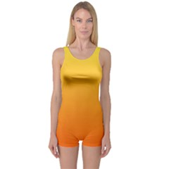 Rainbow Yellow Orange Background One Piece Boyleg Swimsuit