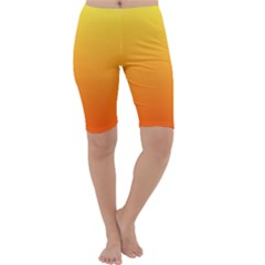 Rainbow Yellow Orange Background Cropped Leggings