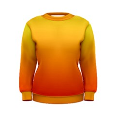Rainbow Yellow Orange Background Women s Sweatshirt