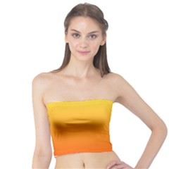Rainbow Yellow Orange Background Tube Top