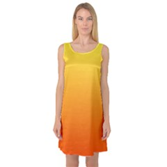 Rainbow Yellow Orange Background Sleeveless Satin Nightdress