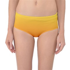 Rainbow Yellow Orange Background Mid Waist Bikini Bottoms