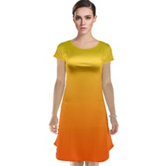 Rainbow Yellow Orange Background Cap Sleeve Nightdress