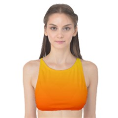 Rainbow Yellow Orange Background Tank Bikini Top