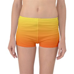 Rainbow Yellow Orange Background Reversible Bikini Bottoms