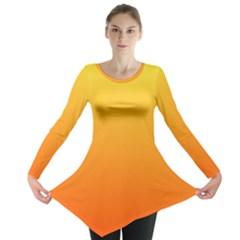 Rainbow Yellow Orange Background Long Sleeve Tunic