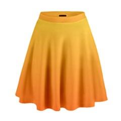 Rainbow Yellow Orange Background High Waist Skirt