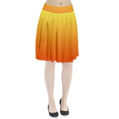 Rainbow Yellow Orange Background Pleated Skirt