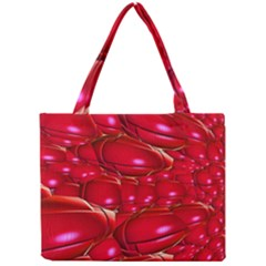Red Abstract Cherry Balls Pattern Mini Tote Bag