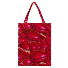 Red Abstract Cherry Balls Pattern Classic Tote Bag