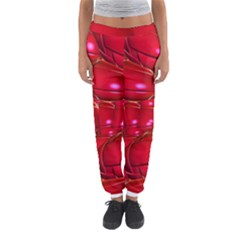 Red Abstract Cherry Balls Pattern Women s Jogger Sweatpants