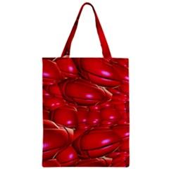 Red Abstract Cherry Balls Pattern Zipper Classic Tote Bag