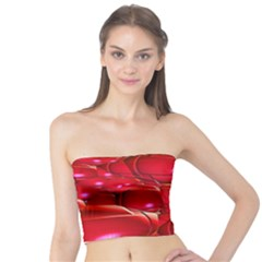 Red Abstract Cherry Balls Pattern Tube Top