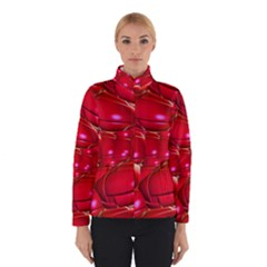 Red Abstract Cherry Balls Pattern Winterwear