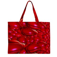 Red Abstract Cherry Balls Pattern Medium Tote Bag