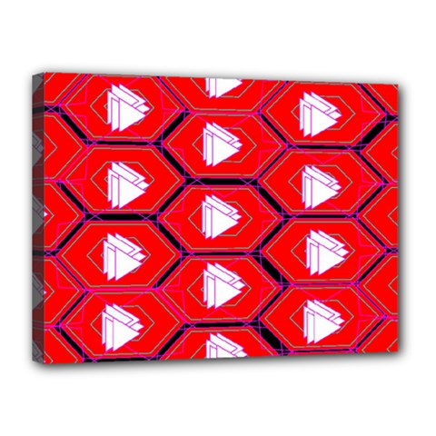 Red Bee Hive Canvas 16  X 12