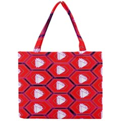 Red Bee Hive Mini Tote Bag