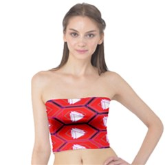 Red Bee Hive Tube Top