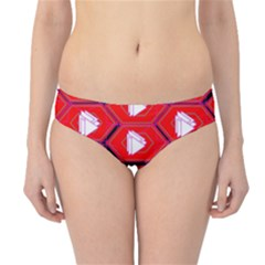 Red Bee Hive Hipster Bikini Bottoms